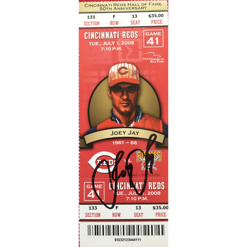 Photo of Joey Jay Signed Ticket
