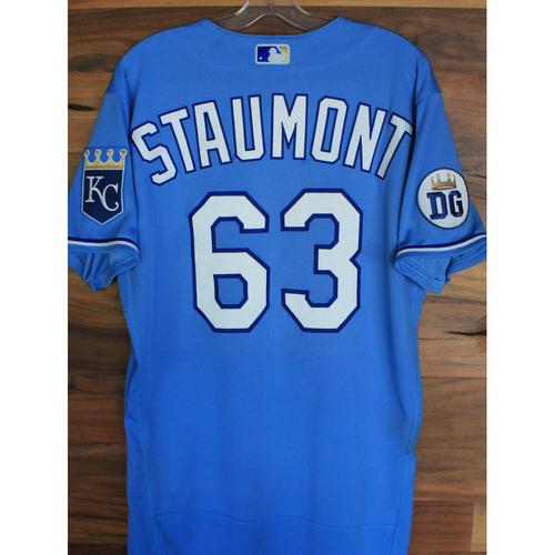 Photo of Alex's Lemonade Stand Foundation: Game-Used Josh Staumont Jersey (Size 42 - 9/26/20 DET @ KC)