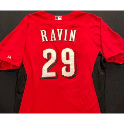 Photo of RAVIN-29 -- Authentic Reds Jersey -- $1 Jersey Auction -- $5 Shipping -- Size 46 (Not MLB Authenticated)