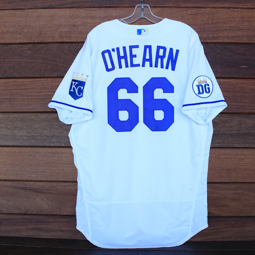 Photo of Game-Used 2020 Los Reales Jersey: Ryan O'Hearn #66 (PIT @ KC 9/12/20) - Size 46