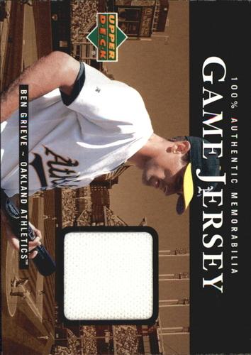 Photo of 2000 Upper Deck Game Jersey #BG Ben Grieve HR2
