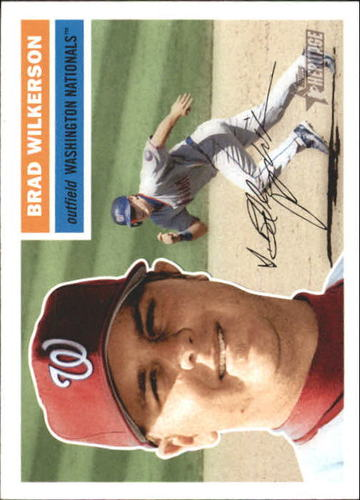 Photo of 2005 Topps Heritage White Backs #340 Brad Wilkerson