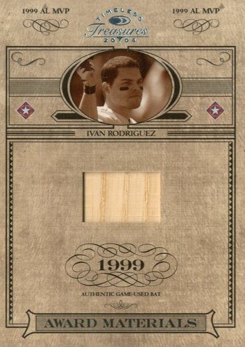 Photo of 2004 Timeless Treasures Award Materials #30 Ivan Rodriguez Bat/99