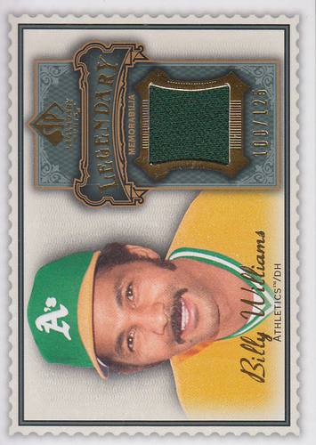 Photo of 2009 SP Legendary Cuts Legendary Memorabilia #BW3 Billy Williams/125