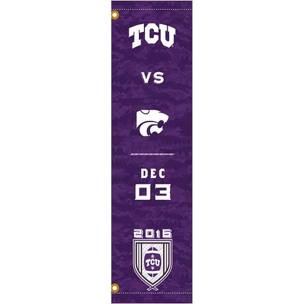 Photo of TCU vs. K-State Football Vinyl Street Banner (A)