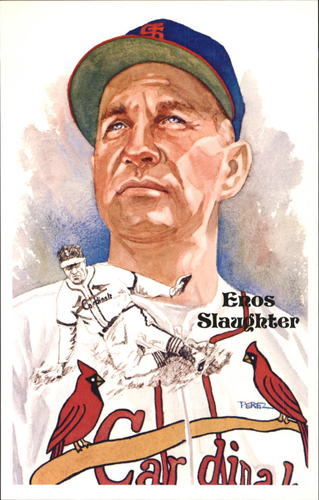 Photo of 1980-02 Perez-Steele Hall of Fame Postcards #191 Enos Slaughter -- HOF Class of 1985