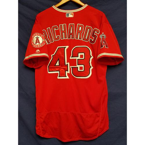 Garrett Richards Team-Issued Alternate Red Jersey