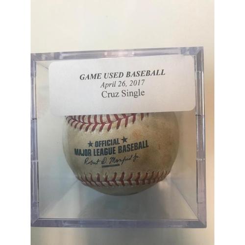 Game-Used Baseball: Nelson Cruz Single