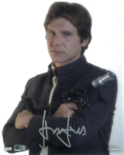 Harrison Ford as Han Solo 8x10 Autographed in Silver Ink Photo