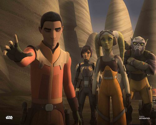 Ezra Bridger, Sabine Wren, Hera Syndulla and Zeb Orrelios