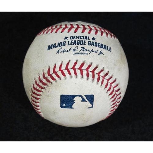 Photo of Game Used Baseball - Pitcher: Edwin Diaz, Batter: Shohei Ohtani (Strikeout - Top 9)  7/5/18