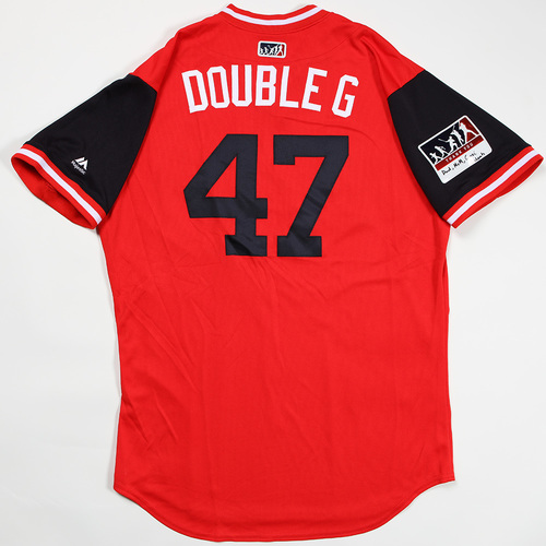 "Photo of Gio ""Double G"" Gonzalez Washington Nationals Game-Used Jersey 2018 Players' Weekend Jersey"