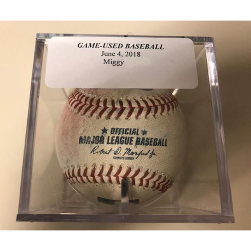 Photo of Game-Used Baseball: Pitched to Miguel Cabrera