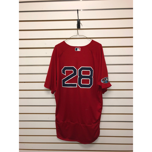 Photo of JD Martinez Game-Used October 5th & 6th, 2018 ALDS Game 1 & 2 Home Alternate Jersey