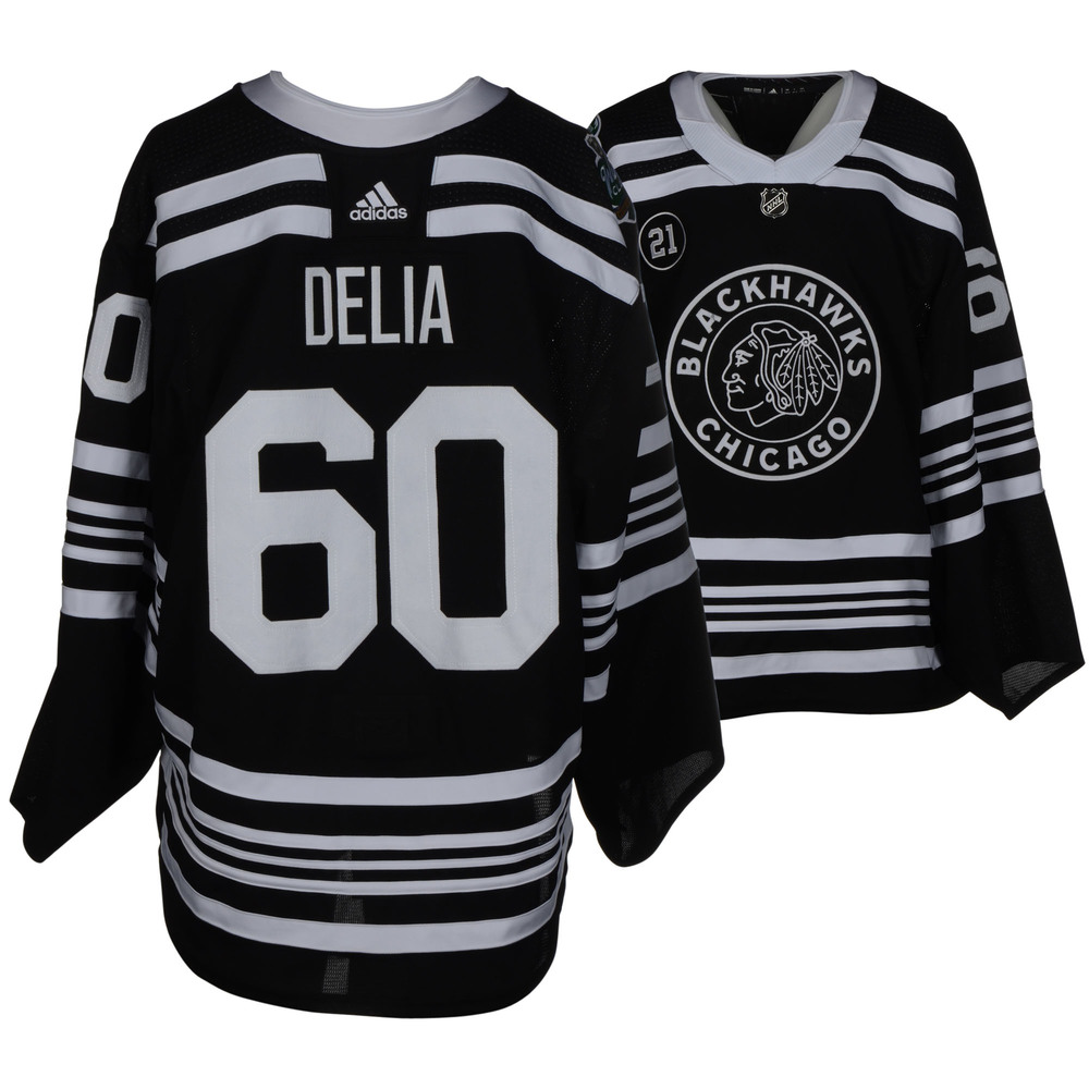 Collin Delia Chicago Blackhawks Game-Worn 2019 NHL Winter Classic Jersey
