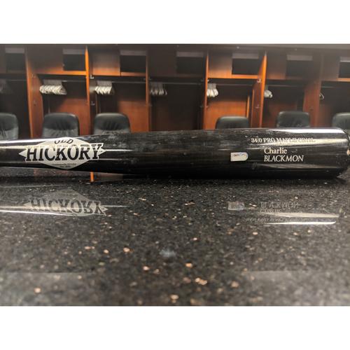 Photo of Colorado Rockies Game-Used Broken Bat - Charlie Blackmon - March 29, 2019