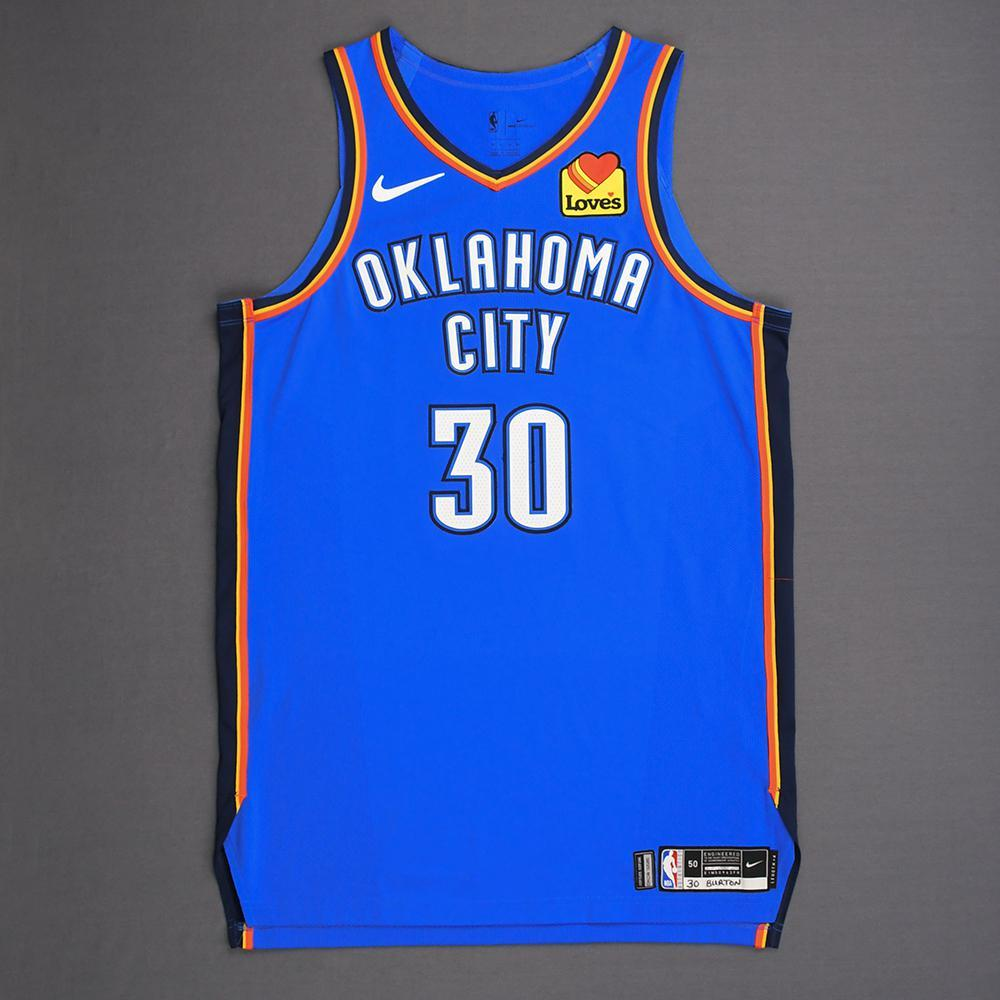 Deonte Burton - Oklahoma City Thunder - Game-Worn Icon Edition Jersey - Dressed, Did Not Play - 2019 Playoffs