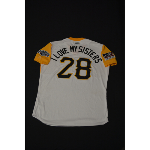 "Photo of 2019 Little League Classic - Game Used Jersey - Joey ""I Love My Sisters"" Cora, Chicago Cubs at Pittsburgh Pirates - 8/18/2019 (Size - 46)"