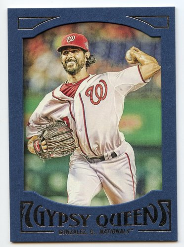 Photo of 2016 Topps Gypsy Queen Framed Blue #42 Gio Gonzalez