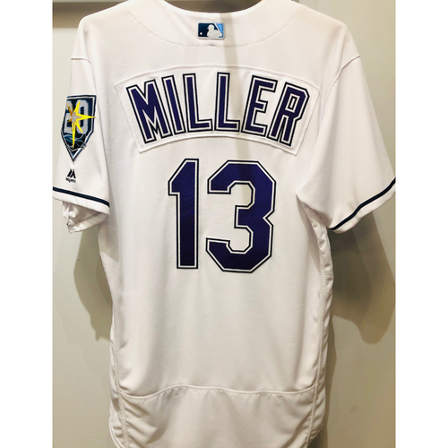 2018 Team Issued Devil Rays Jersey: Brad Miller (size 44)