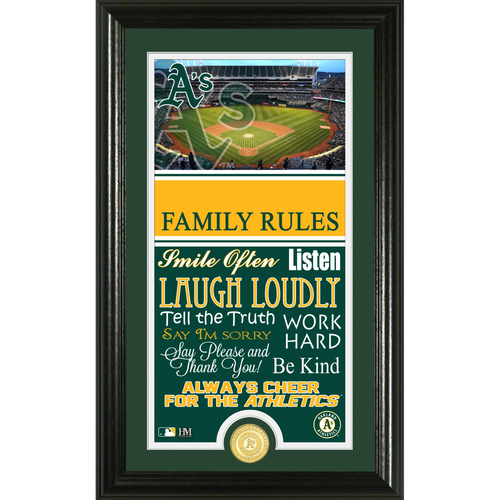 Photo of Oakland Athletics Personalized Family Rules Photo Mint