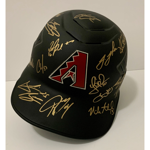 Photo of 2020 Team Signed Batting Helmet - Not MLB Authenticated - D-backs Certificate of Authenticity Included