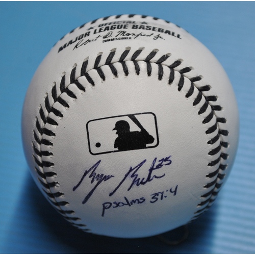 MLB Opening Day Auction Supporting The Players Alliance - Black Lives Matter Baseball signed by Byron Buxton Inscribed Psalms 34:7