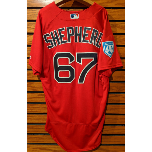 Photo of Chandler Shepherd #67 2019 Red Spring Training Team Issued Jersey