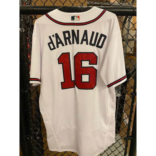 Photo of 2020 Silver Slugger: Travis d'Arnaud Game Used Home White Jersey - Worn 7/29/20 (Opening Day at Truist Park), 9/30/20, 10/15/20 (NLCS)