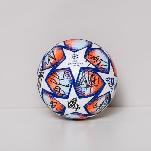 Photo of 20/21 Champions League Ball signed by Paris Saint-Germain
