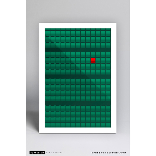 Photo of Fenway Park Red Seat- Minimalist Ballpark Art Print by S. Preston - Boston Red Sox