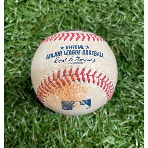 Photo of Spring Training Game Used Baseball: Ryan Yarbrough strikes out Marcell Ozuna - Top 2 - March 28, 2021 v ATL