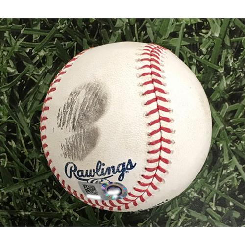 Photo of Game-Used Baseball DET@MIL 09/01/20 - Daniel Norris - Christian Yelich: Solo HR (#9)