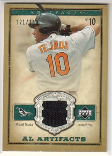 Photo of 2006 Artifacts AL/NL Artifacts Green #MTA Miguel Tejada Jsy/150