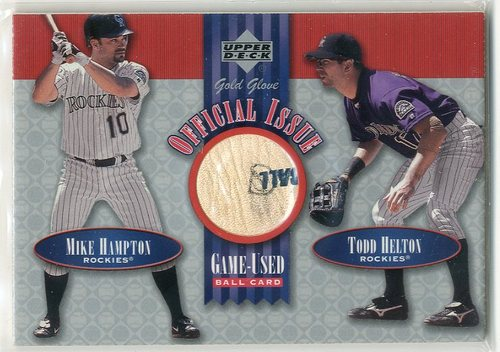Photo of 2001 Upper Deck Gold Glove Official Issue Game Ball #OIHH Mike Hampton/Todd Helton