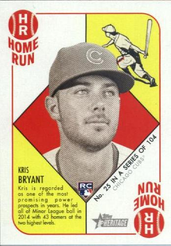 Photo of 2015 Topps Heritage '51 Collection #25 Kris Bryant Rookie Card
