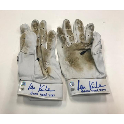 Photo of Player Collected Autographed Ian Kinsler Batting Gloves