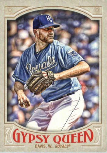 Photo of 2016 Topps Gypsy Queen #136A Wade Davis/Blue jersey