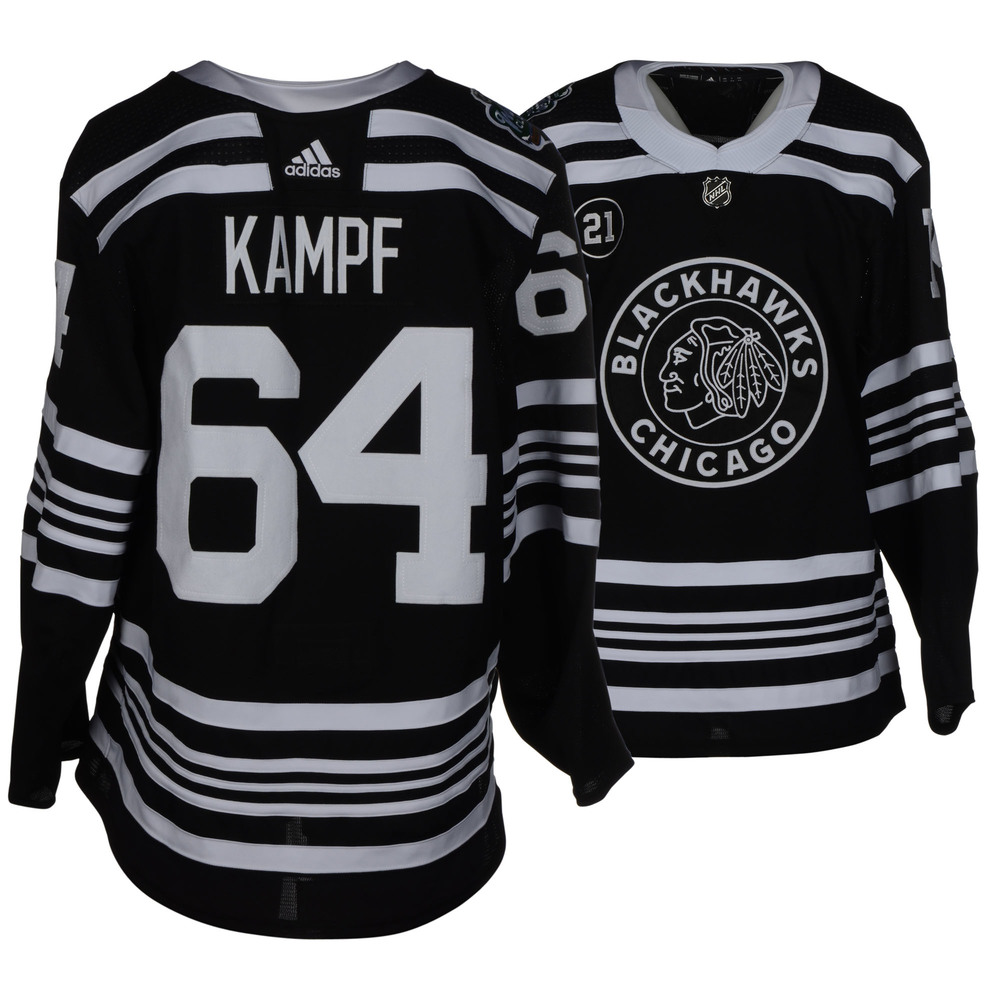 55363119d26 David Kampf Chicago Blackhawks Game-Worn 2019 NHL Winter Classic Jersey
