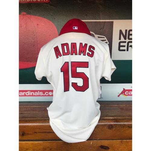 Photo of Cardinals Authentics: Game Worn Matt Adams Turn Back the Clock Jersey and Cap