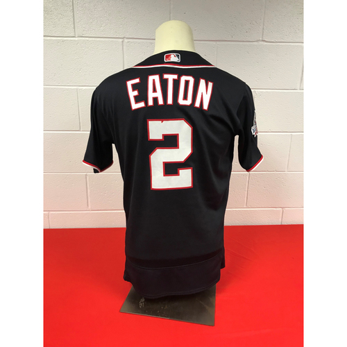 100% authentic 319a6 68df4 MLB Auctions | Adam Eaton Game-Used 2018 Navy Stars and ...