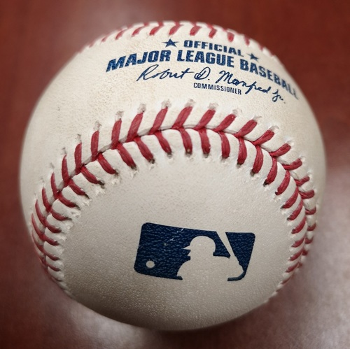 Photo of Authenticated Game Used Baseball - RBI Single by Steve Pearce against Sam Gaviglio (May 23, 19 vs BOS). Top 6
