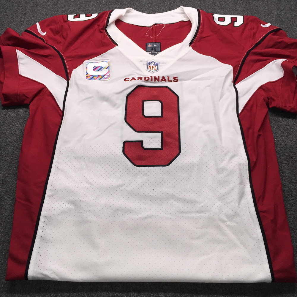Crucial Catch - Cardinals Sam Bradford Game Used Issued with Captains Patch size 46