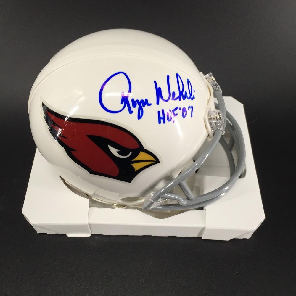 HOF - Cardinals Roger Wehrli Signed Mini Helmet