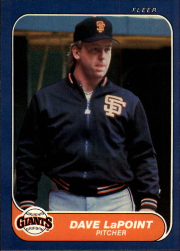 Photo of 1986 Fleer #547 Dave LaPoint