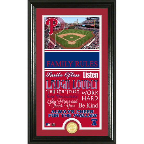 Photo of Philadelphia Phillies Personalized Family Rules Photo Mint