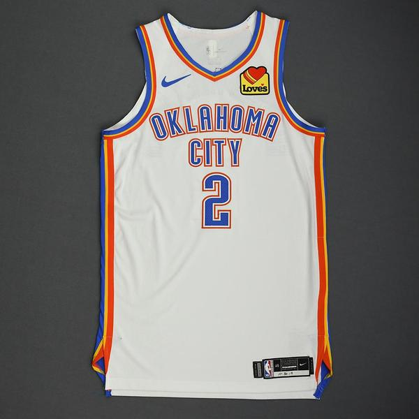 Image of Shai Gilgeous-Alexander - Oklahoma City Thunder - Game-Worn Association Edition Jersey - 2019-20 NBA Season