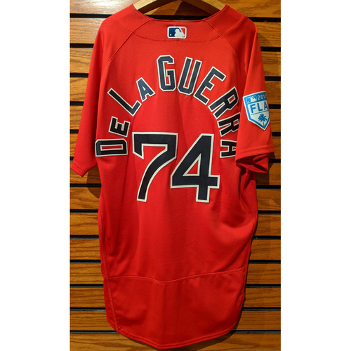 Photo of Chad De La Guerra #74 2019 Red Spring Training Team Issued Jersey