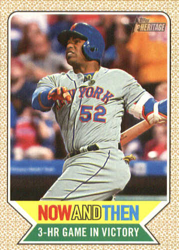 Photo of 2017 Topps Heritage Now and Then #NT7 Yoenis Cespedes