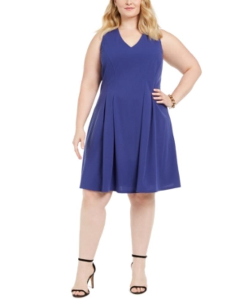 Photo of Teeze Me Juniors' Plus Size Sleeveless Fit & Flare Dress
